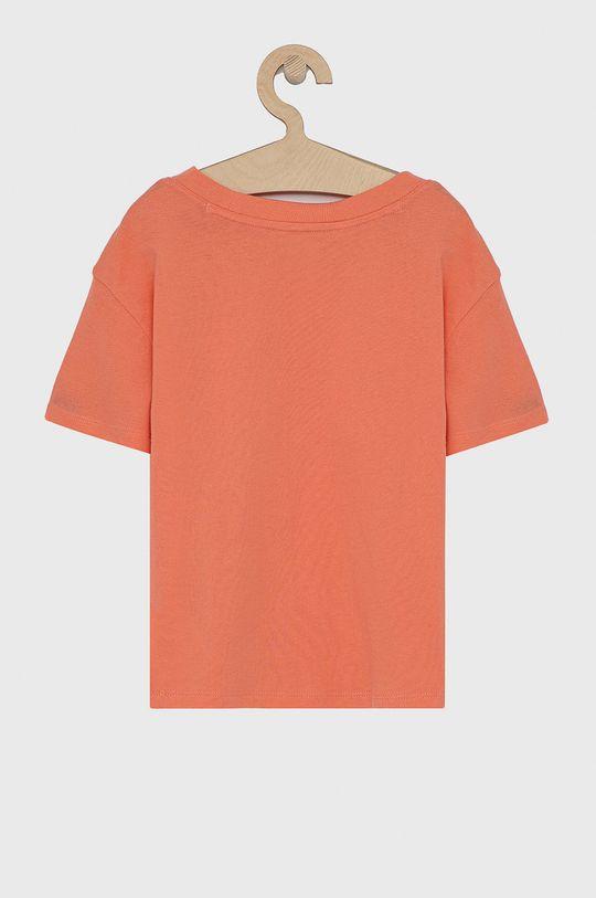 GAP - T-shirt bawełniany dziecięcy różowy
