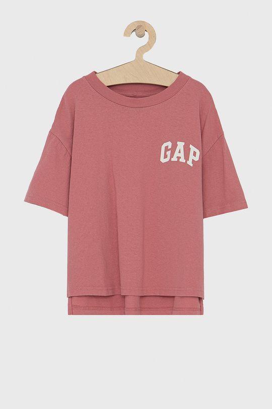 ostry różowy GAP - T-shirt bawełniany dziecięcy 683660.GIRLS.KNITS.SWEA Dziewczęcy
