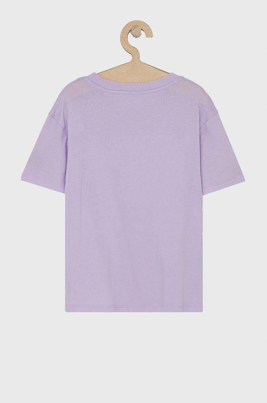 GAP - T-shirt bawełniany dziecięcy lawendowy