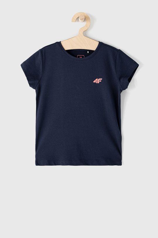 granatowy 4F - T-shirt dziecięcy 122-164 cm Dziewczęcy
