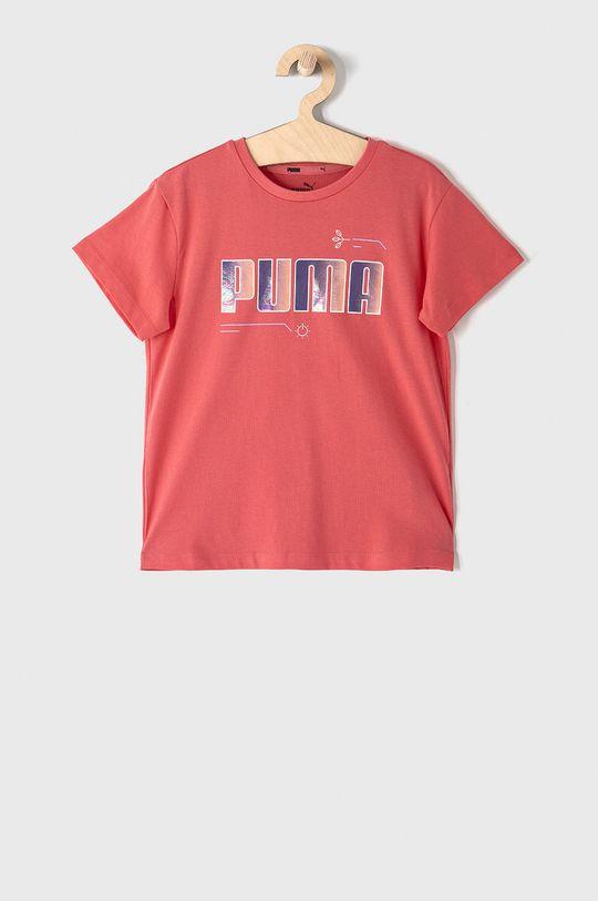 koralová Puma - Detské tričko 104-164 cm Dievčenský