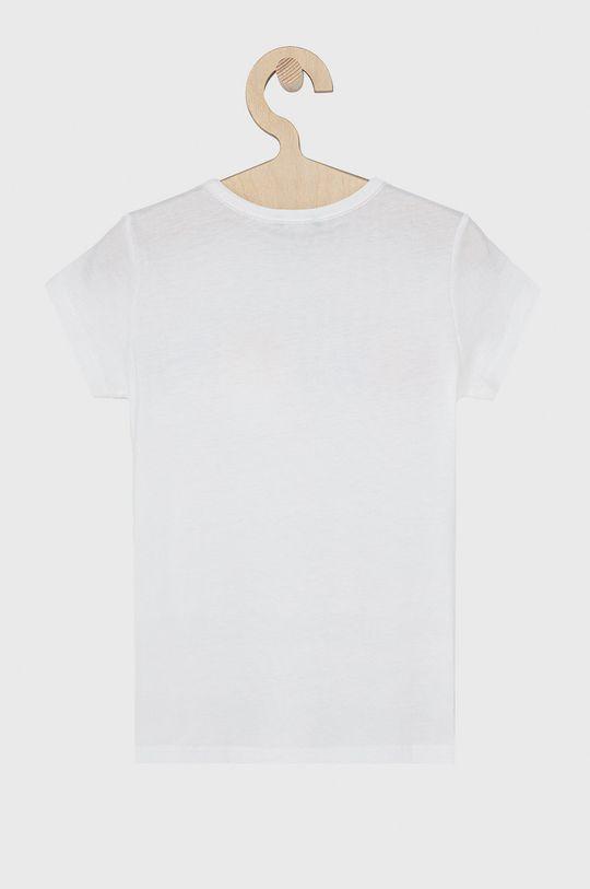 United Colors of Benetton - T-shirt bawełniany dziecięcy biały