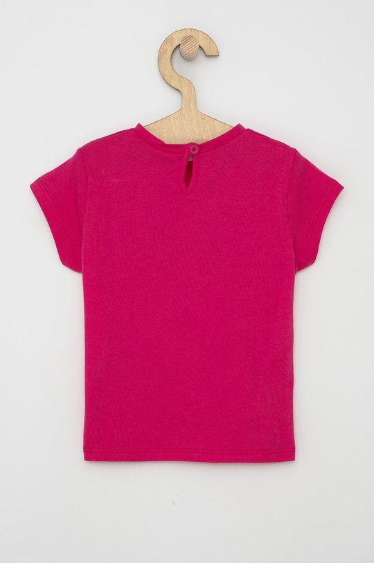 United Colors of Benetton - Dětské bavlněné tričko fuchsiová
