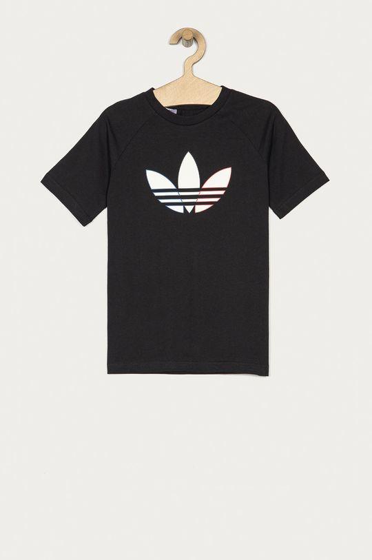 czarny adidas Originals - T-shirt dziecięcy 128-176 cm Dziecięcy