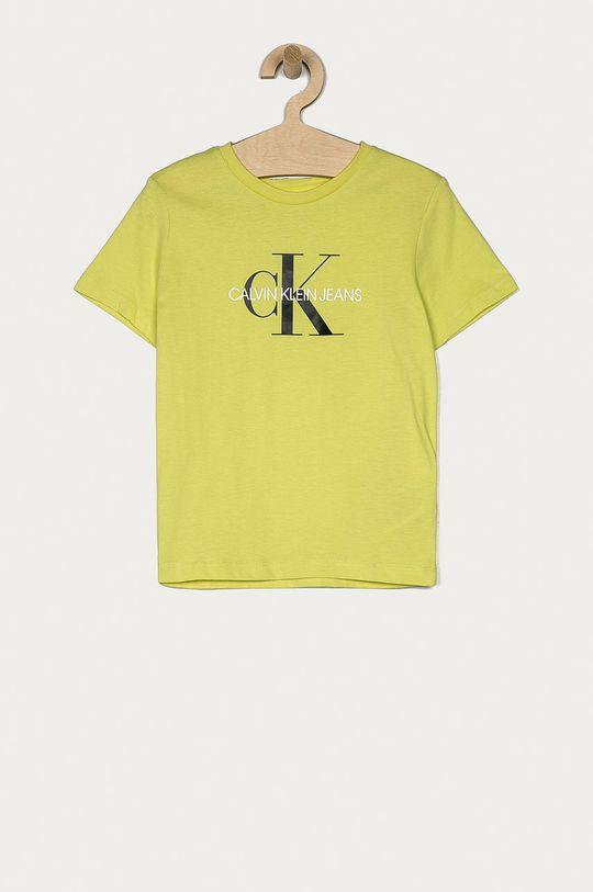 žlutě zelená Calvin Klein Jeans - Dětské tričko 104-176 cm Dětský