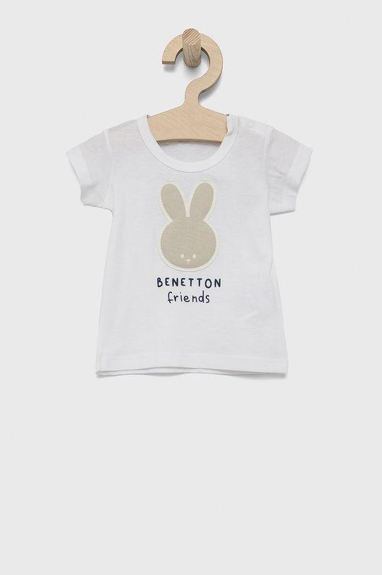 bílá United Colors of Benetton - Dětské bavlněné tričko Dětský