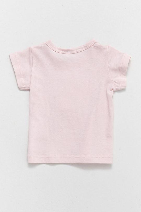 United Colors of Benetton - Dětské bavlněné tričko pastelově růžová