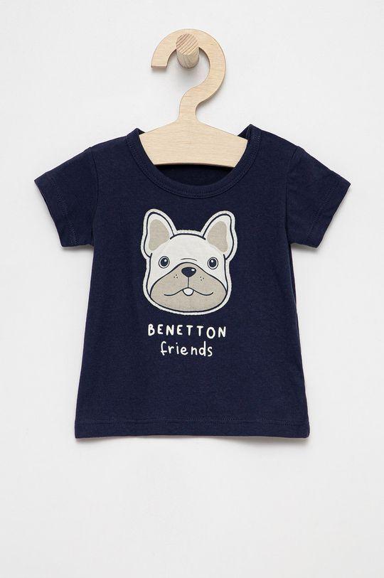 námořnická modř United Colors of Benetton - Dětské bavlněné tričko Dětský
