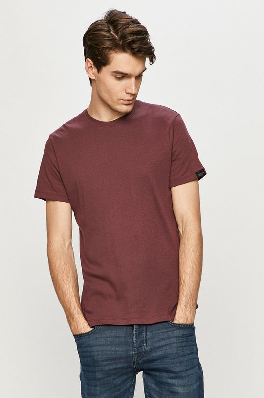 fioletowy Tom Tailor - T-shirt Męski