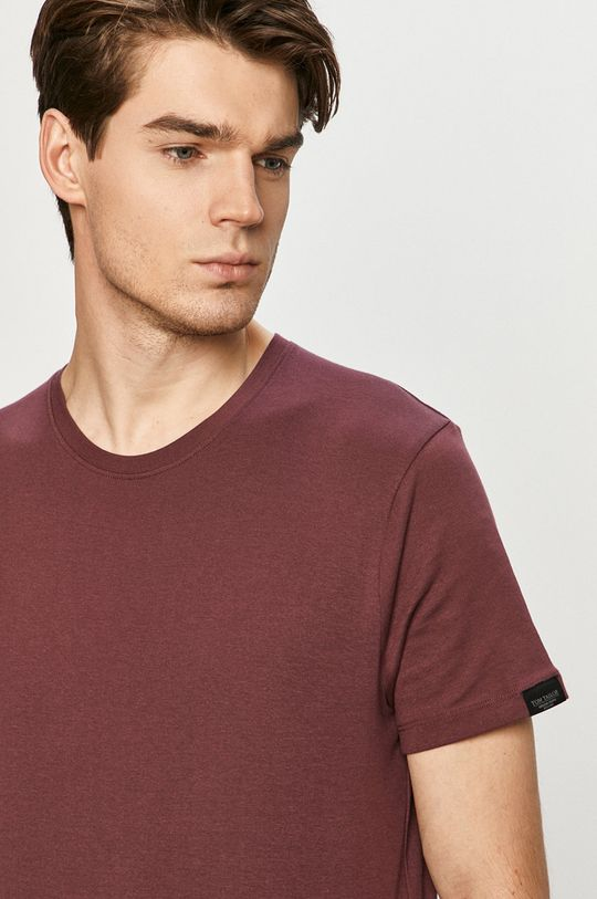 fioletowy Tom Tailor - T-shirt