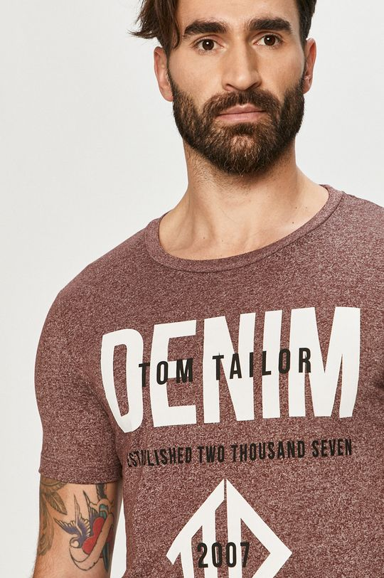 kasztanowy Tom Tailor - T-shirt