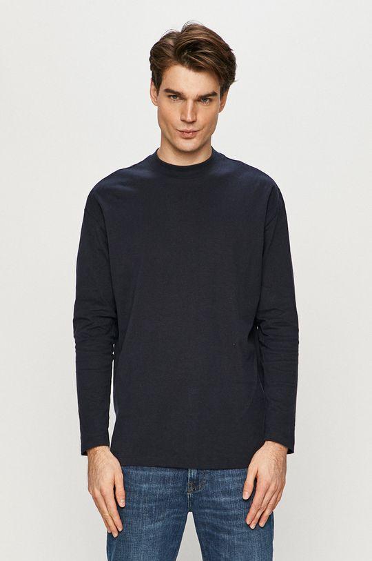 námořnická modř Tom Tailor - Tričko s dlouhým rukávem Pánský