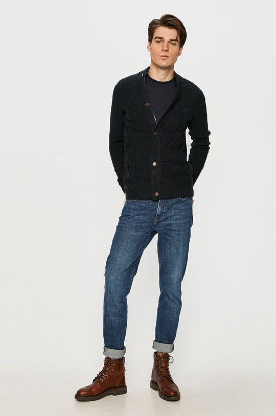 Tom Tailor - Tričko s dlouhým rukávem námořnická modř