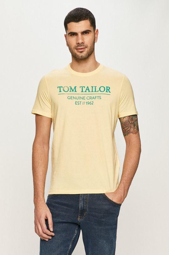 žltá Tom Tailor - Tričko Pánsky
