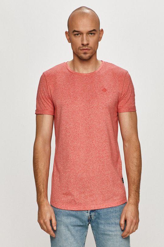 czerwony Tom Tailor - T-shirt Męski