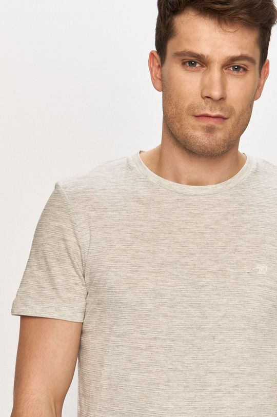 jasny szary Tom Tailor - T-shirt Męski