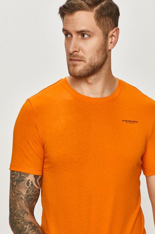 oranžová G-Star Raw - Tričko Pánský