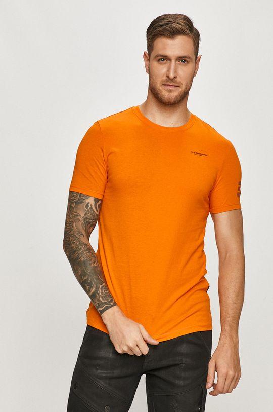 oranžová G-Star Raw - Tričko