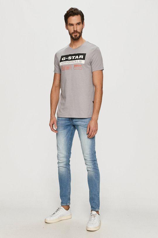 G-Star Raw - T-shirt szary