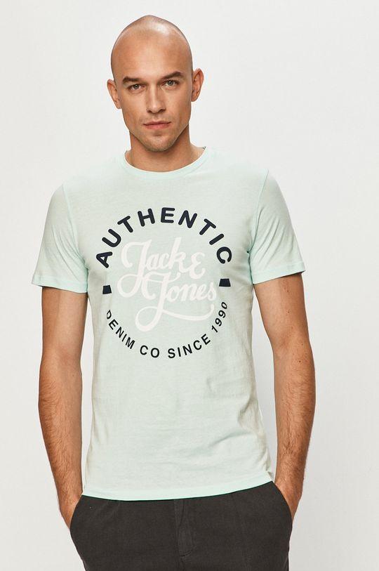 jasny turkusowy Jack & Jones - T-shirt Męski