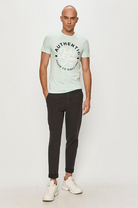 Jack & Jones - T-shirt jasny turkusowy