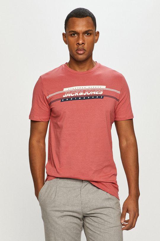 roz rosu Jack & Jones - Tricou De bărbați