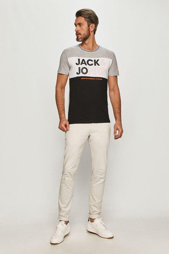 Jack & Jones - T-shirt jasny szary