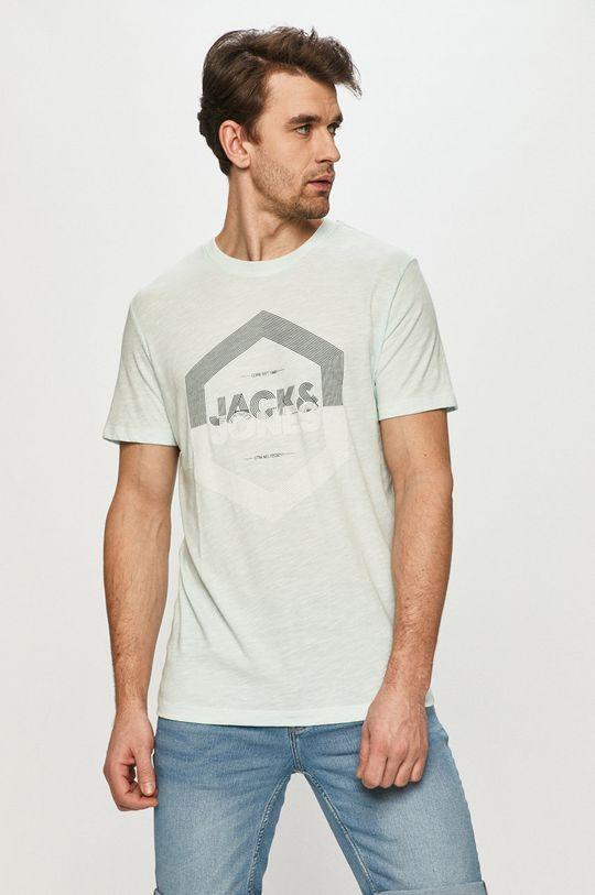světle tyrkysová Jack & Jones - Tričko Pánský