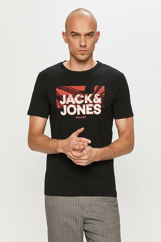 czarny Jack & Jones - T-shirt Męski