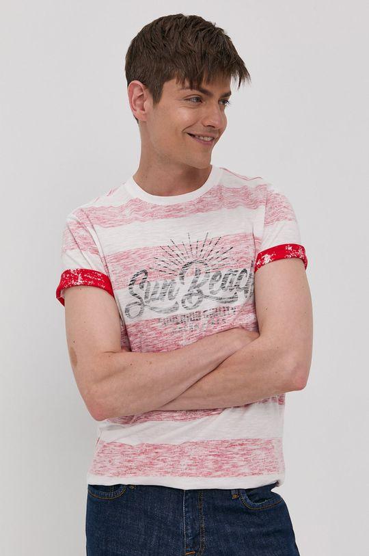 czerwony Jack & Jones - T-shirt Męski