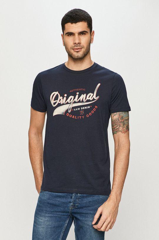 granatowy Produkt by Jack & Jones - T-shirt Męski