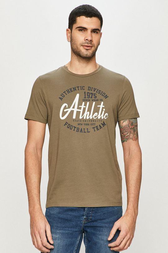 oliwkowy Produkt by Jack & Jones - T-shirt Męski
