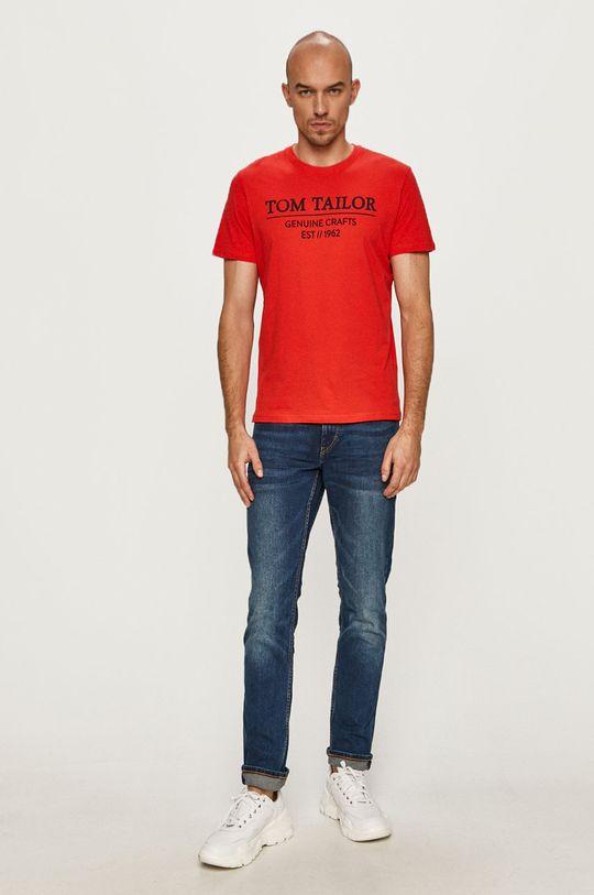 Tom Tailor - T-shirt czerwony