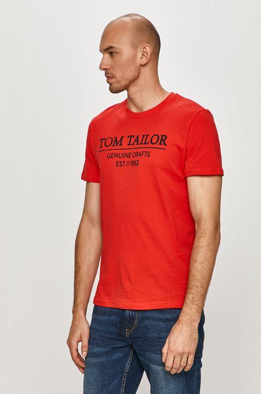 czerwony Tom Tailor - T-shirt