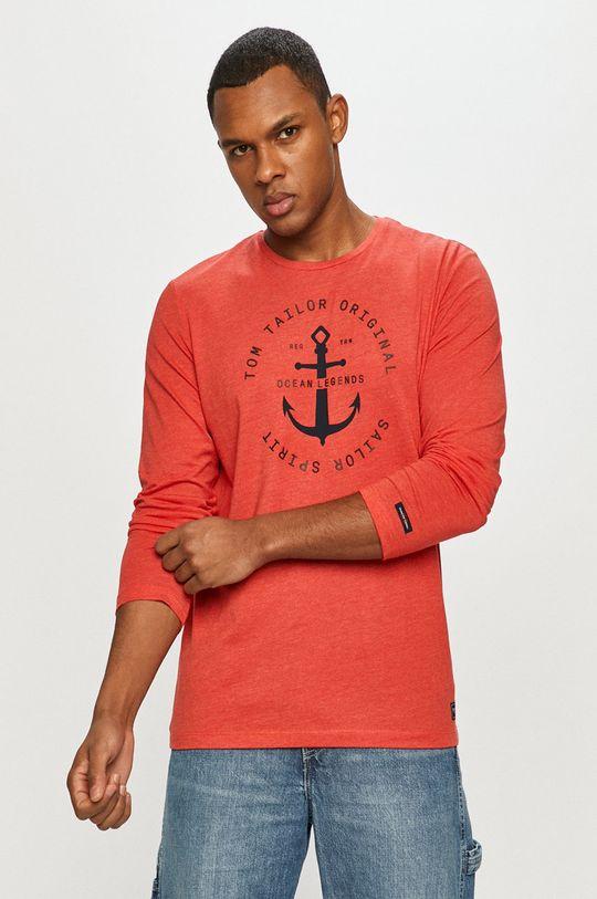 červená Tom Tailor - Tričko s dlhým rukávom Pánsky