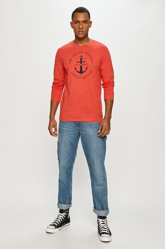 Tom Tailor - Tričko s dlhým rukávom červená