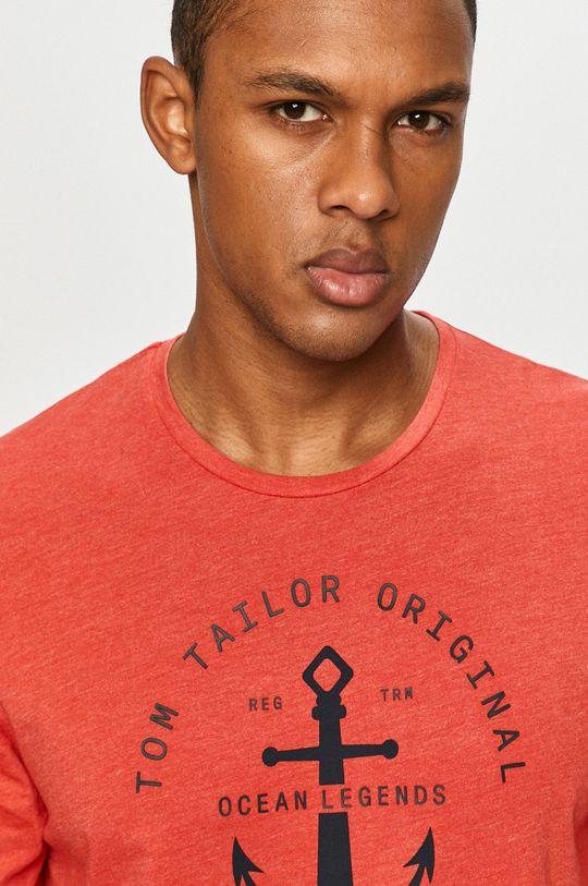 červená Tom Tailor - Tričko s dlhým rukávom