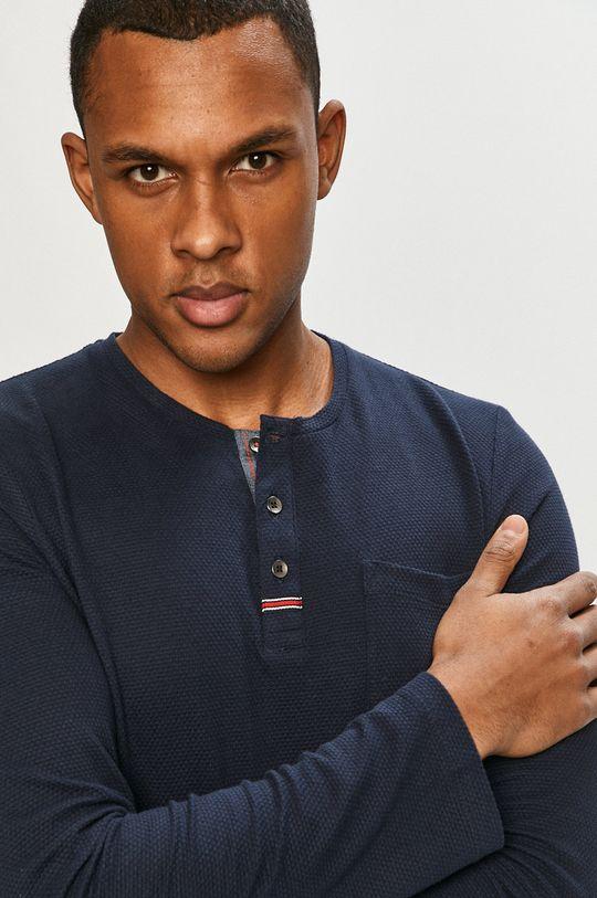 tmavomodrá Tom Tailor - Tričko s dlhým rukávom Pánsky