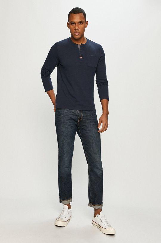 Tom Tailor - Tričko s dlhým rukávom tmavomodrá