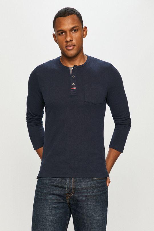tmavomodrá Tom Tailor - Tričko s dlhým rukávom