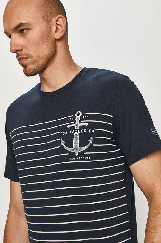 granatowy Tom Tailor - T-shirt Męski