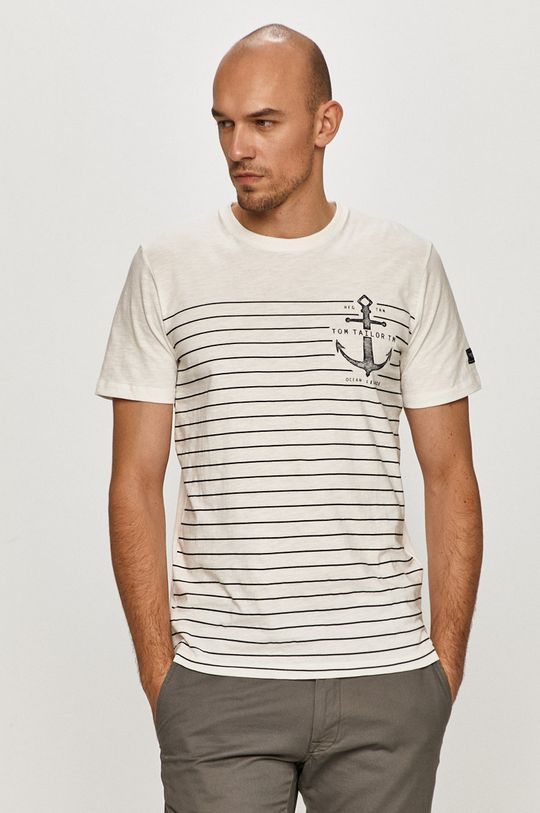 biela Tom Tailor - Tričko Pánsky