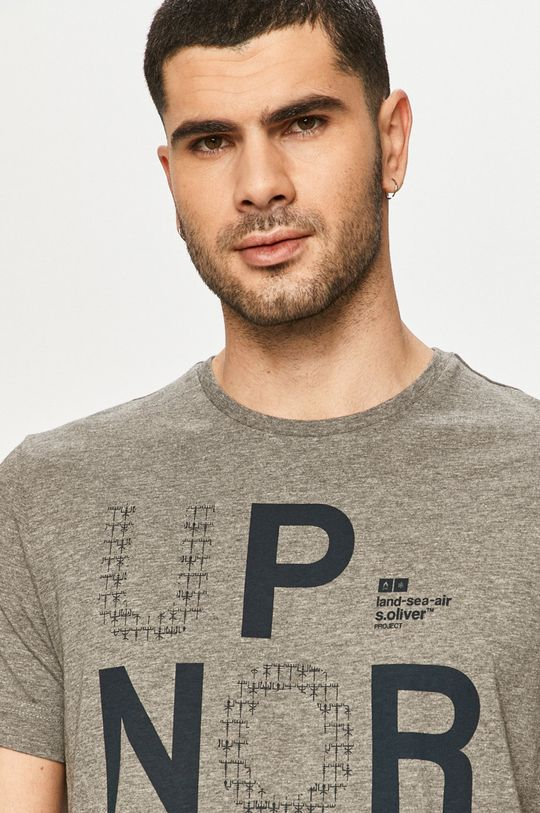 jasny szary s. Oliver - T-shirt