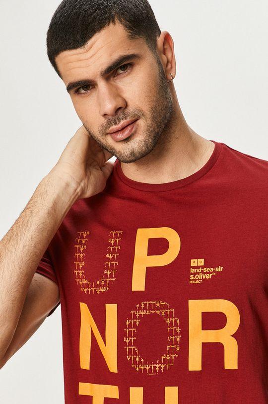 czerwony s. Oliver - T-shirt Męski