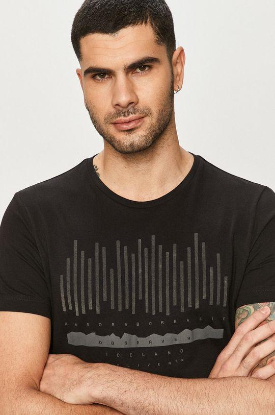 czarny s. Oliver - T-shirt Męski
