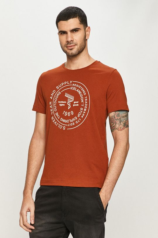 brązowy s. Oliver - T-shirt