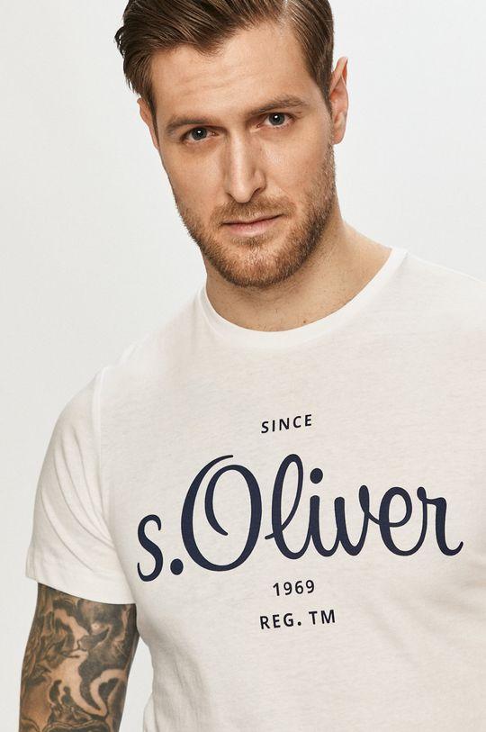 biały s. Oliver - T-shirt Męski