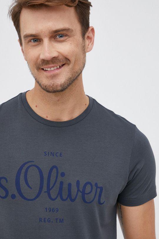 szary s. Oliver - T-shirt Męski