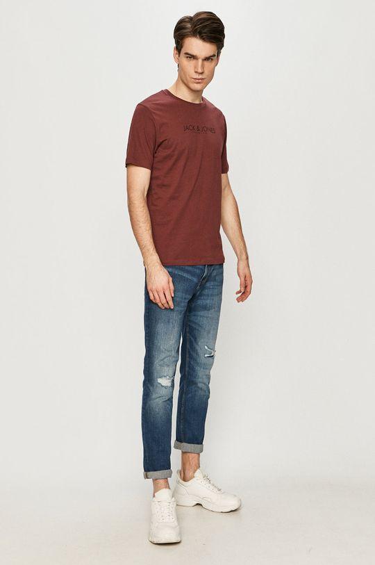 Premium by Jack&Jones - T-shirt mahoniowy