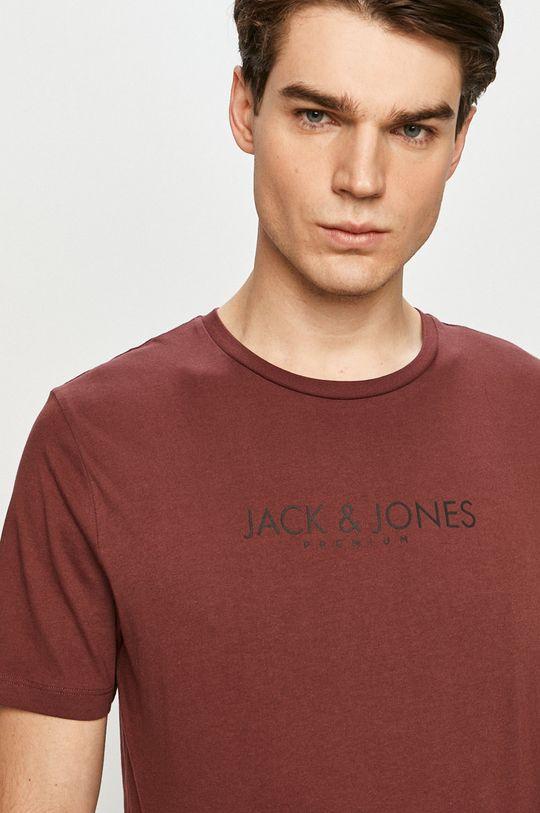 mahoniowy Premium by Jack&Jones - T-shirt